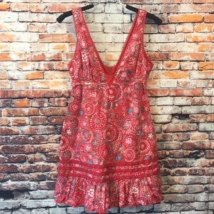 Red Free People sleeveless long top